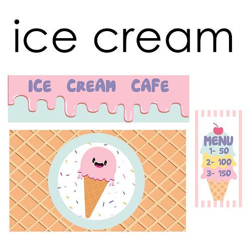 Стикеры для задней панели детской кухни ICE CREAМ