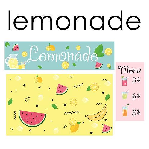 Стикеры для задней панели детской кухни LEMONADE