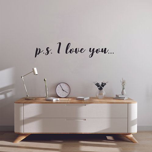 "Стик-постер ""p.s. I love you"""