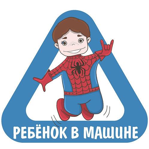 Наклейка на машину Человек-паук