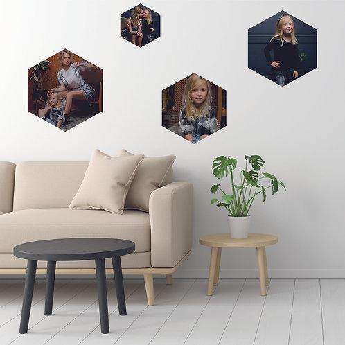 ФОТО-НАКЛЕЙКИ шестиугольник