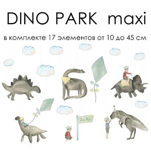 Наклейки DINO PARK maxi