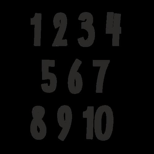 Стик-постер Цифры