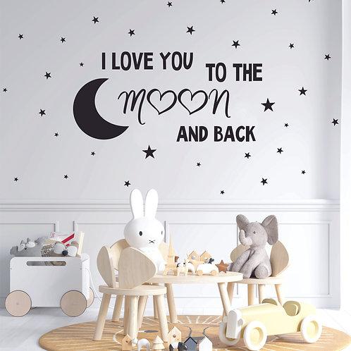 Стик-постер I/WE love you to the moon and back