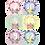 Thumbnail: Стикеры для фото девочекдо годика Пастель