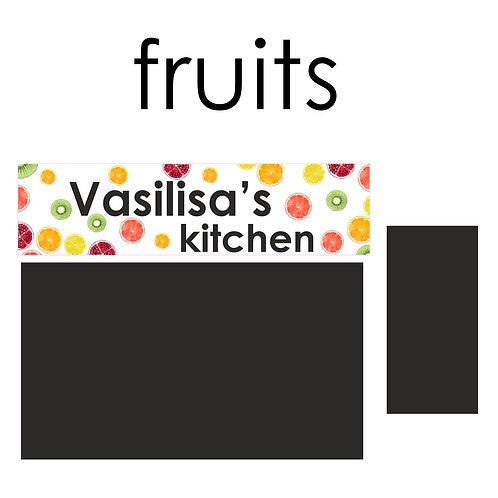 Стикеры для задней панели детской кухни Фрукты