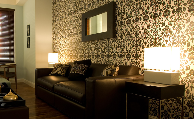 Jaquard ou cheniles para paredes