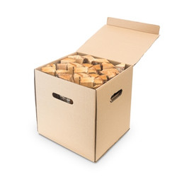 woodbioma firewood cardboard box small