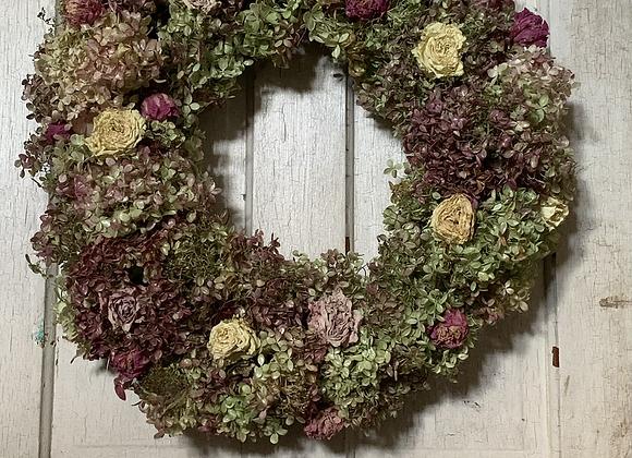 "16"" Everlasting Hydrangea Wreath"