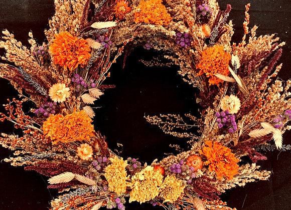 Fall broomcorn Wreath