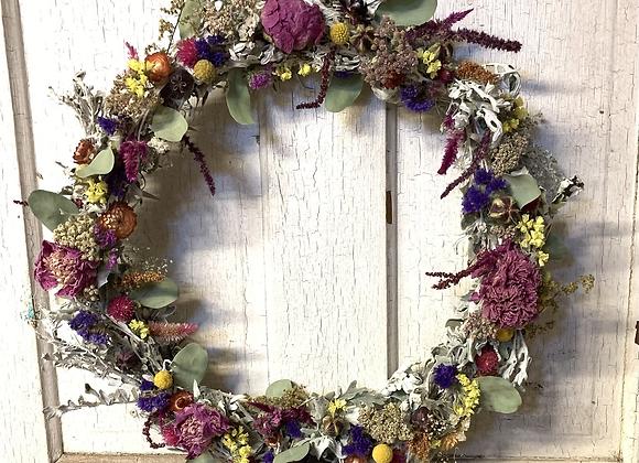 """12"""" Everlasting Artemisia wreath"""