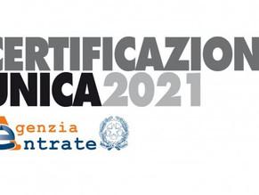 ISTRUZIONI CU 2021 PER DIPENDENTIIN CASSA INTEGRAZIONE e/o FSBA NELL'ANNO 2020