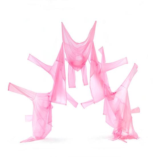 Foldaway Vinyl Mac Sculpture in pink