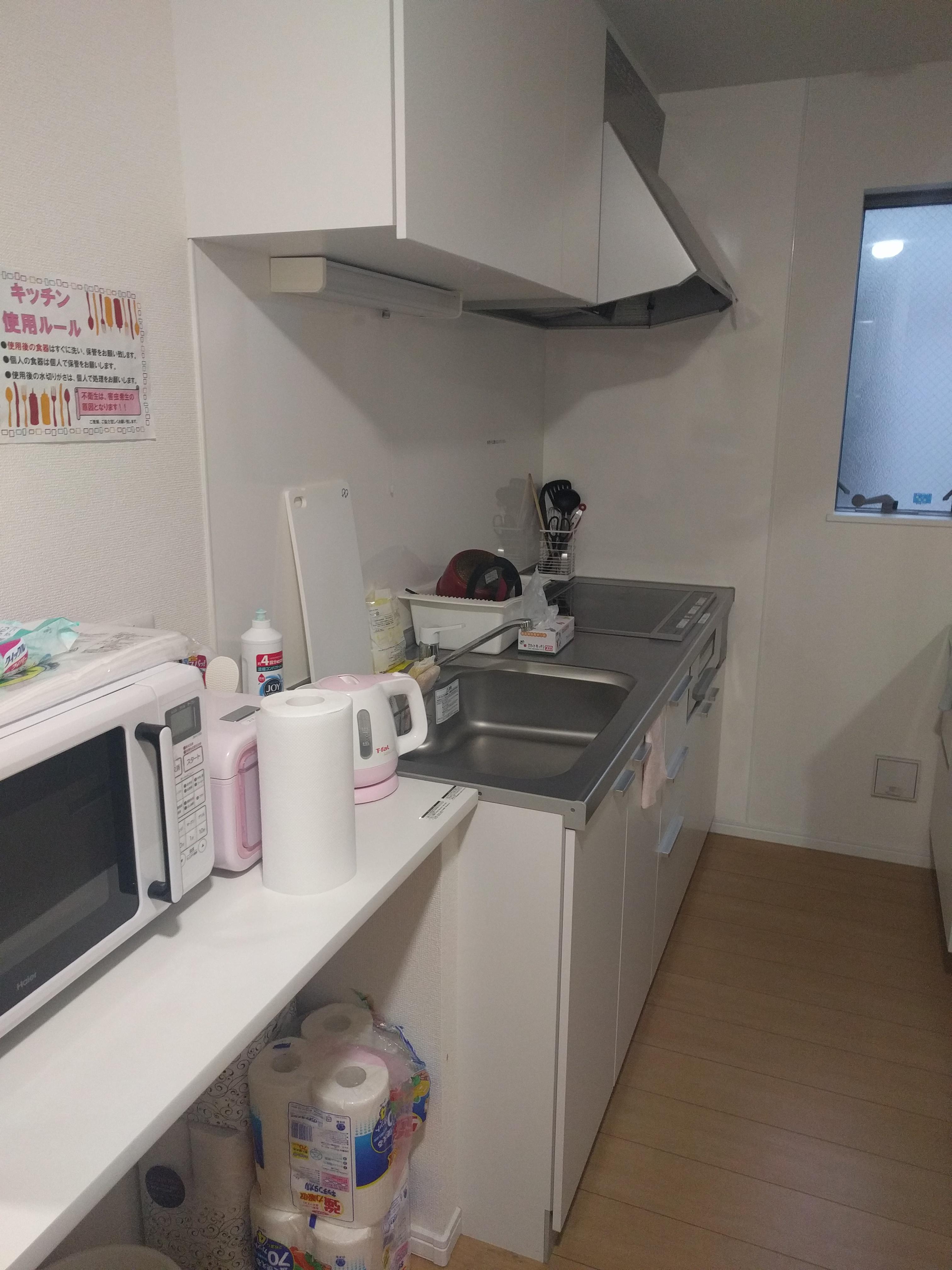 キッチンも各階にありますので自炊派の方にもお勧めです!