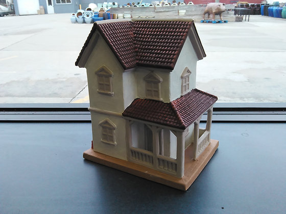 2 Story House with Wrap Around Porch Miniature