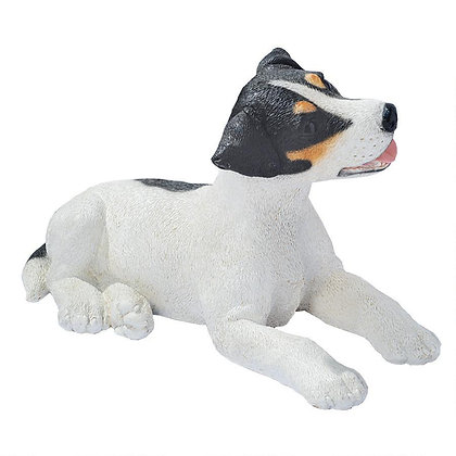 JACK RUSSELL PUPPY STATUE (BLACK AND WHITE)