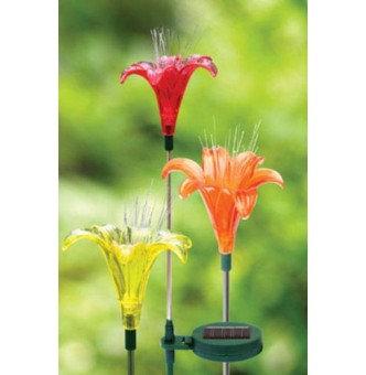 Lily Solar Garden Stake
