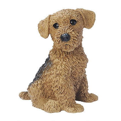 AIREDALE PUPPY STATUE
