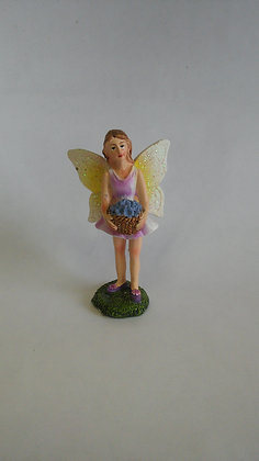 FAIRY IN PURPLE DRESS HOLDING BASKET