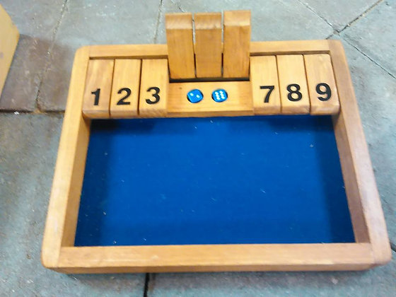 WOODEN DICE GAME LARGE (HANDMADE)