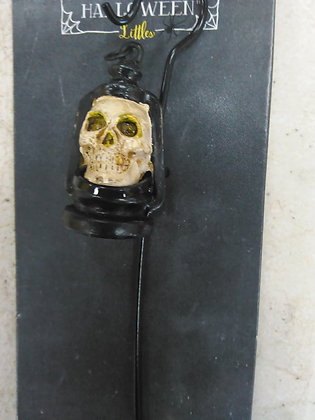 SKELETON LANTERN ON SHEPERDS HOOK