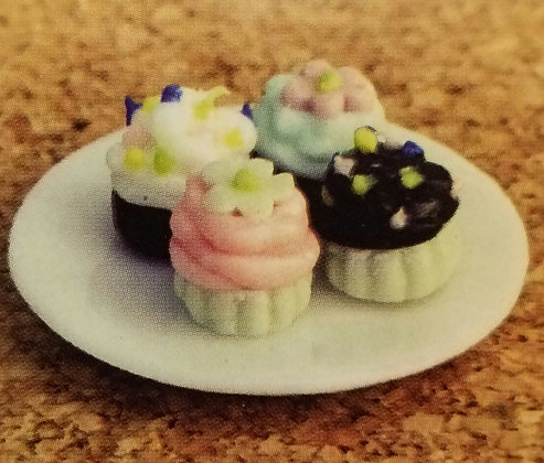 Fiddlehead Fairy PLATE OF CUPCAKES