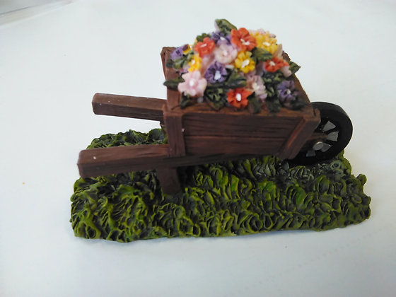 Wheelbarrow with Flowers Miniature Fairy Garden