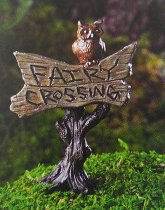 "Fiddlehead Fairy ""FAIRY CROSSING"" SIGN"
