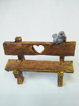 Bench with Bird Miniature Fairy Garden