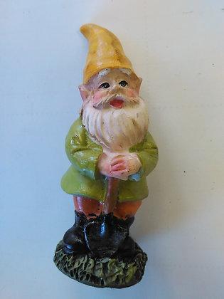 Gnome with Shovel Miniature Fairy Garden