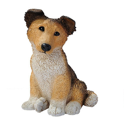 COLLIE PUPPY STATUE