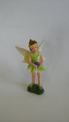 FAIRY IN GREEN DRESS HOLDING BALL