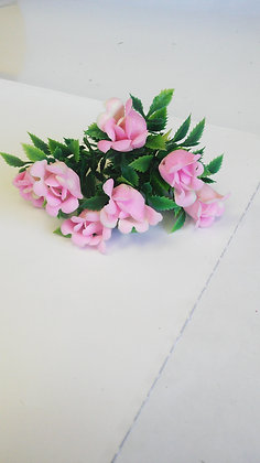 SPRIG OF PINK PLASTIC FLOWERS