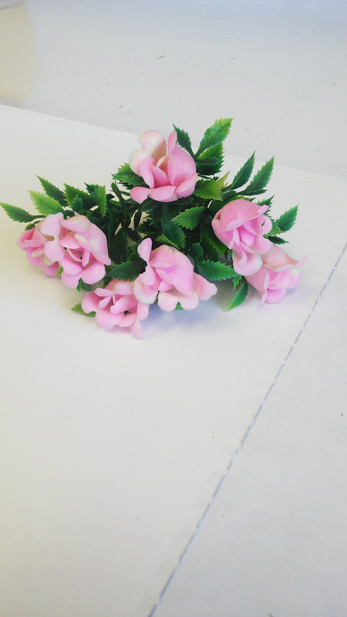 Sprig of pink plastic flowers sprig of pink plastic flowers 3tall 2wide 06weight mightylinksfo