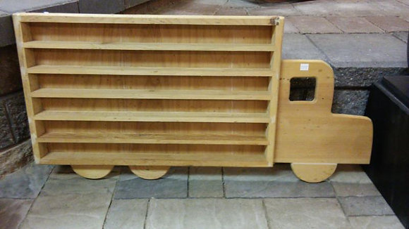 WOODEN SEMI TRUCK SHELF LARGE (HANDMADE)