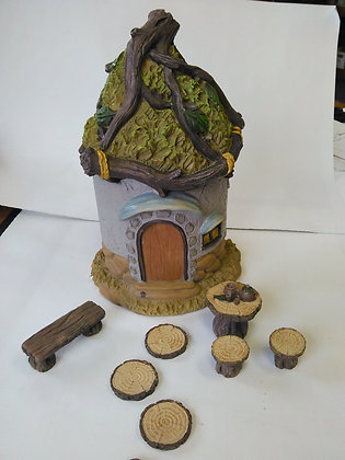 Twig House with accessories Miniature Fairy Garden