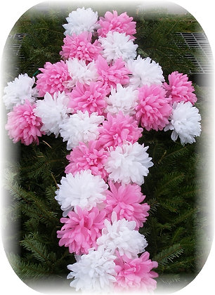 MEMORIAL BLANKET WITH CARNATION CROSS