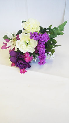 MIXED BOUQUET/ PURPLE ROSE