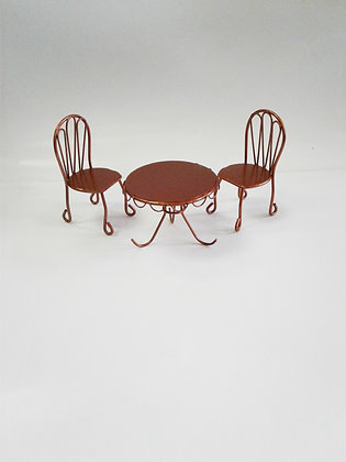 Fiddlehead Fairy BRONZE TABLE AND CHAIRS