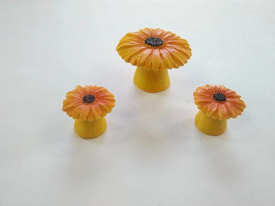 3 Sunflower Stools Miniature Fairy Garden