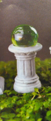 Fiddlehead Fairy GREEN GAZING BALL