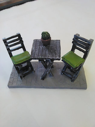 Table and Chairs Miniature Fairy Garden