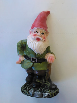 Gnome with Garden Hoe Miniature Fairy Garden