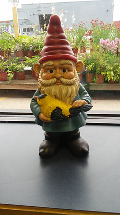 GNOME HOLDING BIRD