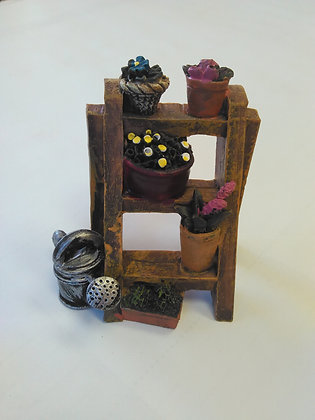 Step Stool Plant Stand Miniature Fairy Garden