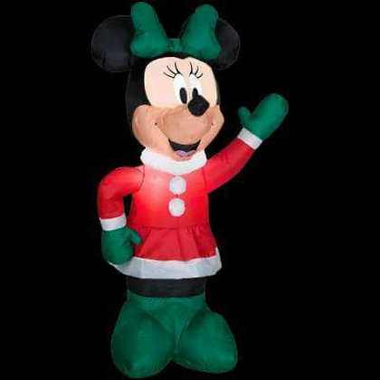 MINNIE MOUSE IN HOLIDAY DRESS