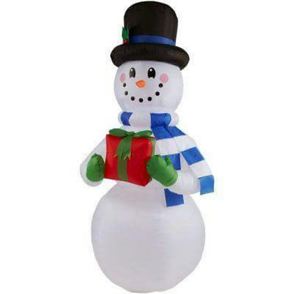 SNOWMAN WITH PRESENT