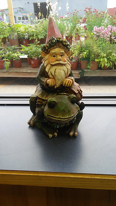 GNOME SITTING ON FROG