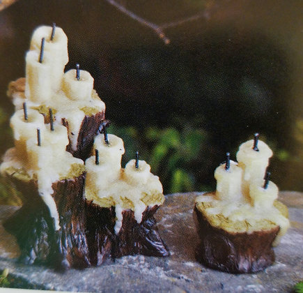 Fiddlehead Fairy CANDLES ON TREE STUMP