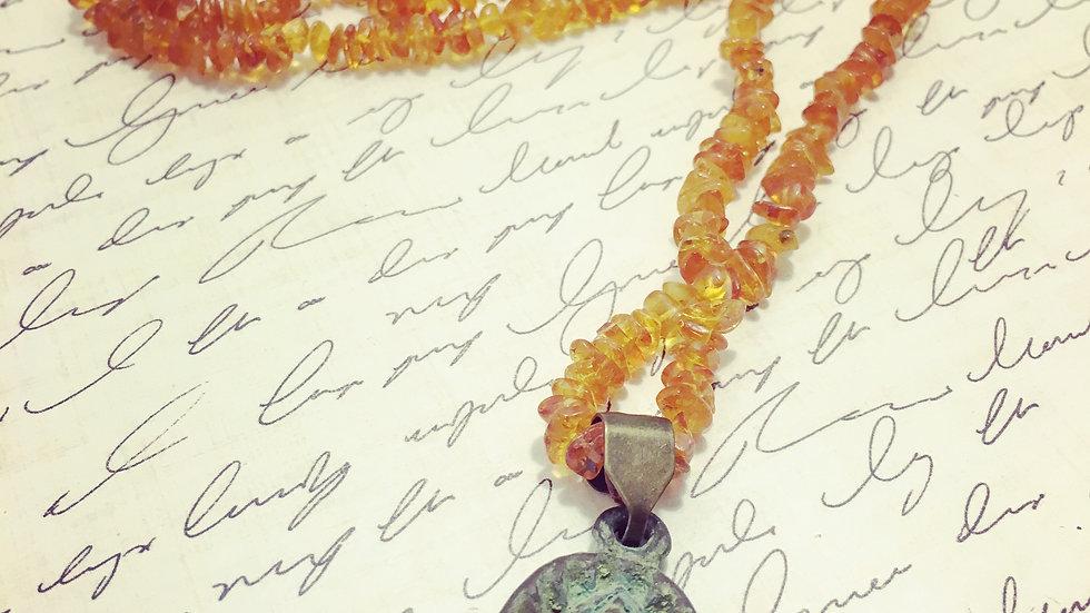 Amber Amulet Necklace
